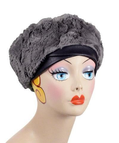Beret, Reversible -  Luxury Faux Fur in Birch