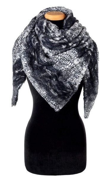 Pandemonium Millinery Bermuda Scarf - Luxury Faux Fur in Black Mamba Scarves