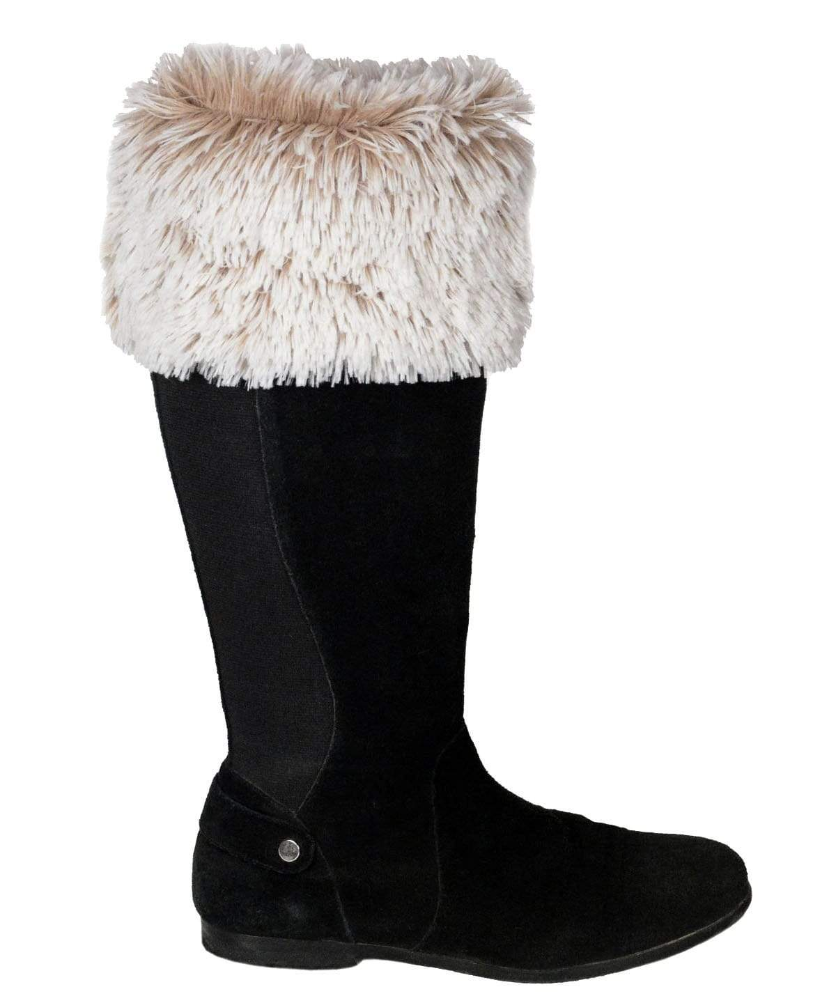 Pandemonium Millinery Boot Topper - Fox Faux Fur No Buttons / Foxy Beach Accessories