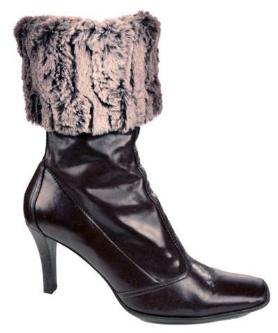 Boot Topper - Luxury Faux Fur in Chinchilla Brown