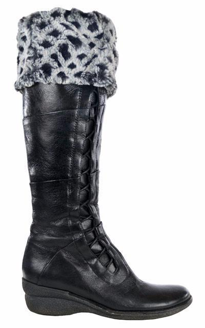 Boot Topper - Luxury Faux Fur in Snow Owl