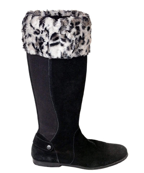 Pandemonium Millinery Boot Topper - Luxury Faux Fur Savannah Cat in Gray Accessories