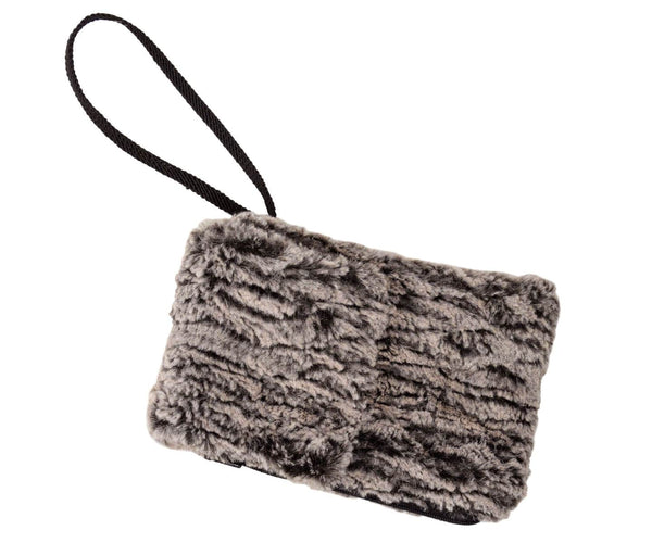 Pandemonium Millinery Cell Phone Purse - Luxury Faux Fur in Black Walnut (One Left!) Wristlet / Black Walnut Handbag