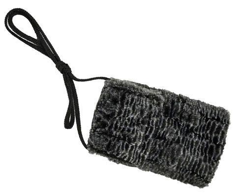 Cell Phone Purse - Luxury Faux Fur in Rattlesnake Ridge Wristlet / Rattlesnake Ridge Handbag Pandemonium Millinery
