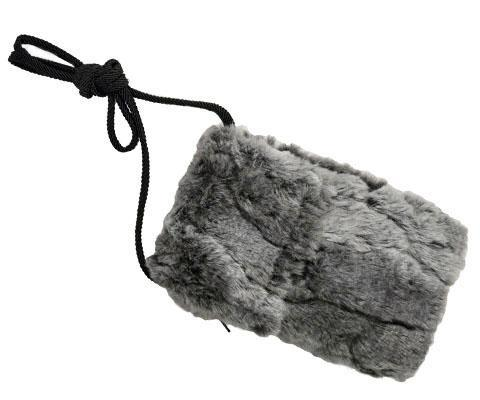 Cell Phone Purse - Luxury Faux Fur in Stormy Night Stormy Night / Wristlet Handbag Pandemonium Millinery