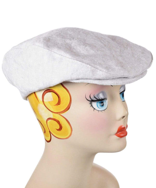 Pandemonium Millinery Charlie Driving Cap - Linen in Bone Medium / Hat Only Hats