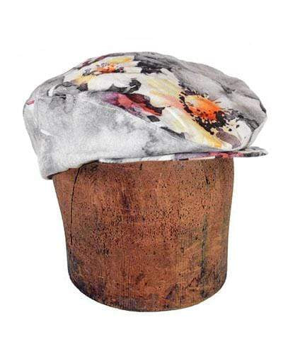 Pandemonium Millinery Charlie Driving Cap (Men's) - Linen in Multi Floral Medium / Hat Only Hats