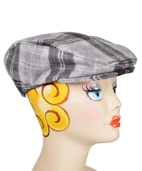 Pandemonium Millinery Charlie Driving Cap - Wool Plaid in Twilight Medium / Hat Only Hats
