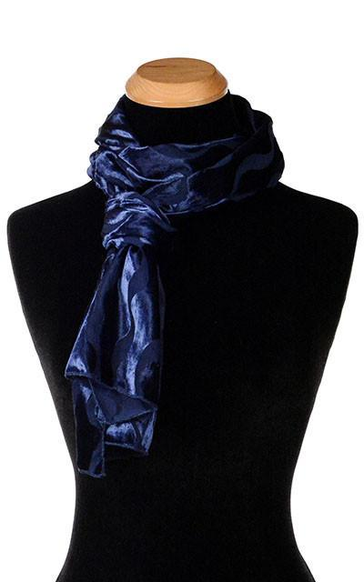Classic Scarf - Burnout Velvet in Baltic Sea Standard Scarves Pandemonium Millinery
