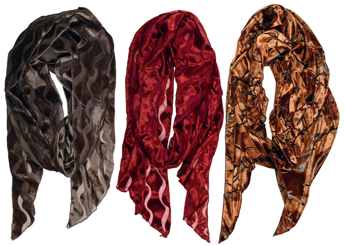 Classic Scarf - Burnout Velvet in Java Sea (Limited Availability)