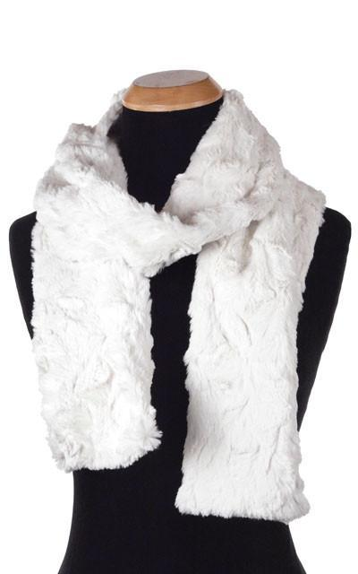 Classic Scarf - Cuddly Faux Fur (Stone - Limited Availability) Skinny / Ivory Scarves Pandemonium Millinery