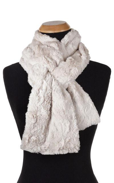 Classic Scarf - Cuddly Faux Fur (Stone - Limited Availability) Skinny / Sand Scarves Pandemonium Millinery