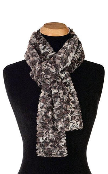 Classic Scarf - Luxury Faux Fur in Calico Skinny / Calico Scarves Pandemonium Millinery