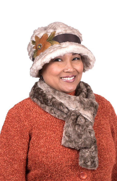 Classic Scarf - Luxury Faux Fur in Fawn Skinny / Fawn Scarves Pandemonium Millinery