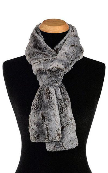 Classic Scarf - Luxury Faux Fur in Giant's Causeway Skinny / Giant's Causeway Scarves Pandemonium Millinery