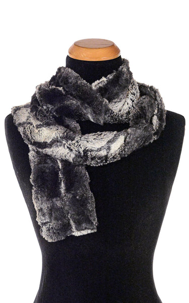 Classic Scarf - Luxury Faux Fur in Honey Badger Skinny / Honey Badger Scarves Pandemonium Millinery