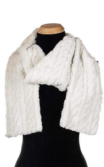 Pandemonium Millinery Classic Scarf - Luxury Faux Fur in Marshmallow Twist (LIMITED AVAILABILITY!) Standard / Marshmallow Twist Scarves