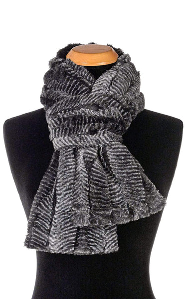 Pandemonium Millinery Classic Scarf - Luxury Faux Fur in Nightshade Scarves