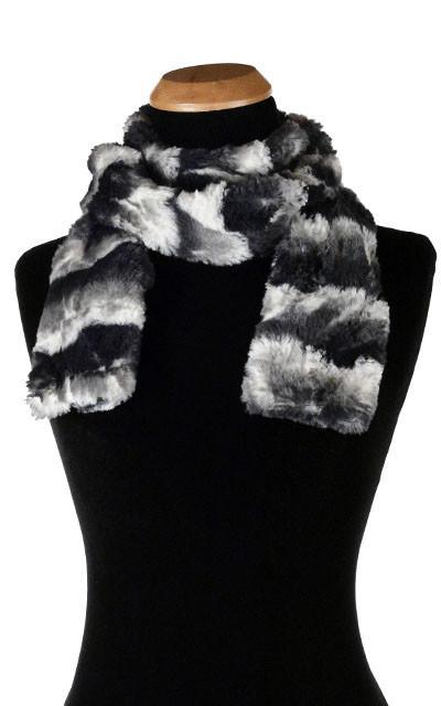 Classic Scarf - Luxury Faux Fur in Ocean Mist