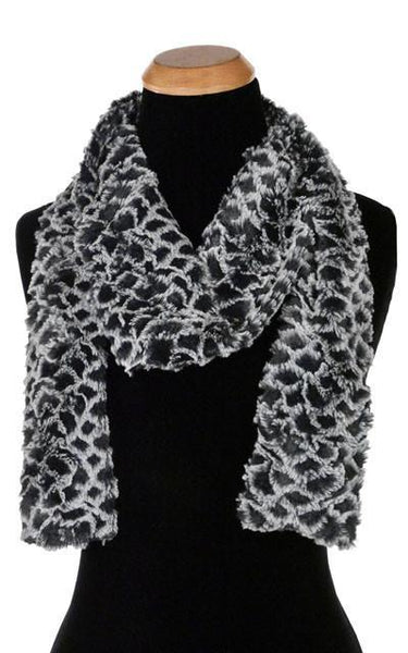 Classic Scarf - Luxury Faux Fur in Snow Owl Skinny / Snow Owl Scarves Pandemonium Millinery