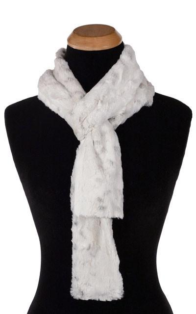 Classic Scarf - Luxury Faux Fur in Winters Frost Skinny / Winters Frost Scarves Pandemonium Millinery