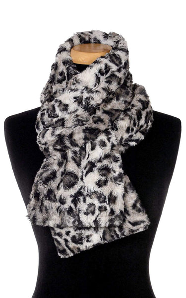 Pandemonium Millinery Classic Scarf - Luxury Faux Fur Savannah Cat in Gray Standard / Savannah Cat in Gray Scarves