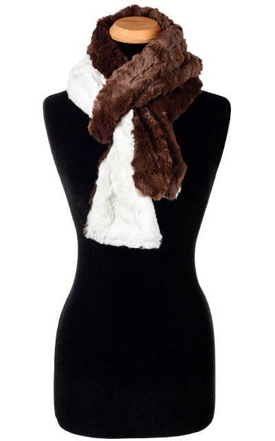 Classic Scarf - Two-Tone, Cuddly Faux Fur in Chocolate