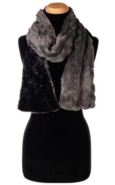 Classic Scarf - Two-Tone, Cuddly Faux Fur in Gray