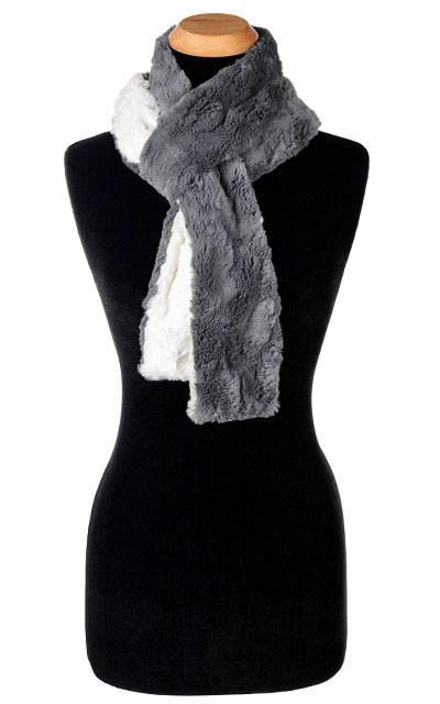 Classic Scarf - Two-Tone, Cuddly Faux Fur in Stone