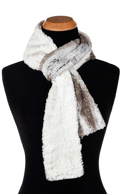 Classic Scarf - Two-Tone, Luxury Faux Fur in Birch