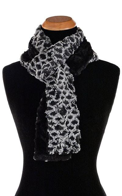 Classic Scarf - Two-Tone, Luxury Faux Fur in Snow Owl