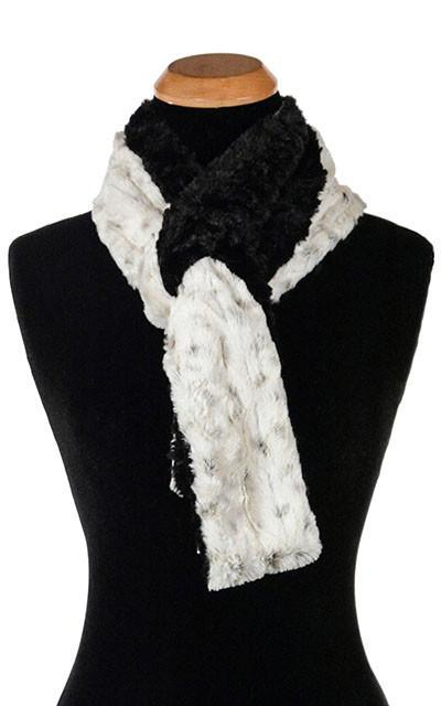 Classic Scarf - Two-Tone, Luxury Faux Fur in Winters Frost