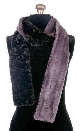 Classic Scarf - Two-Tone, Minky Faux Fur in Mauve (TWO STANDARD, ONE SKINNY LEFT!)