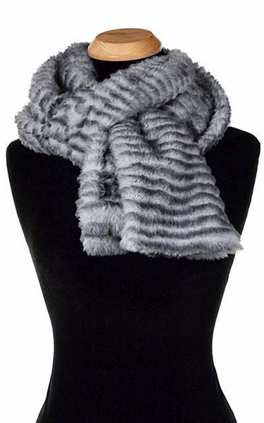 Classic Scarf - Two-Tone & Solid, Plush Faux Fur in Rex (Standard Sizes Only) Standard / Devon Rex Scarves Pandemonium Millinery