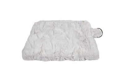 Coin Purse & Cosmetic Bag - Cuddly Faux Fur Coin / Ivory Handbag Pandemonium Millinery