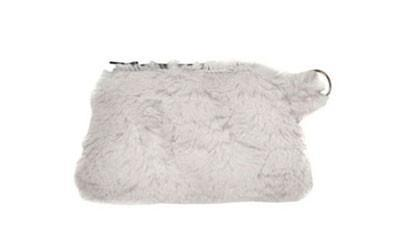 Coin Purse & Cosmetic Bag - Cuddly Faux Fur (Cuddly Stone - Limited Availability)