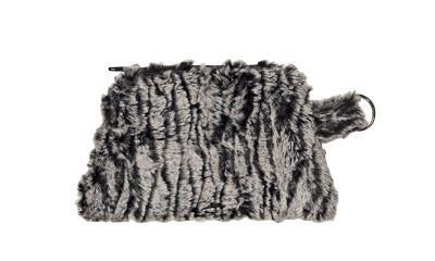 Coin Purse & Cosmetic Bag - Luxury Faux Fur in Black Walnut Coin / Black Walnut Handbag Pandemonium Millinery