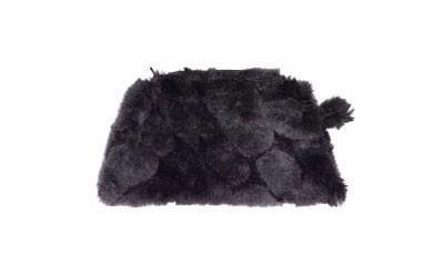 Coin Purse & Cosmetic Bag - Luxury Faux Fur in Dream (Ebony Dream - One Cosmetic!)