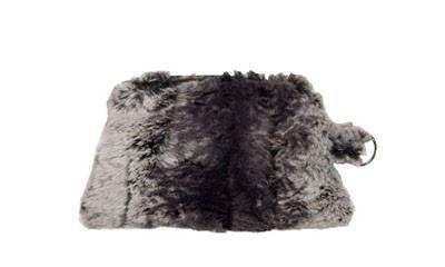Coin Purse & Cosmetic Bag - Luxury Faux Fur in Meerkat Cosmetic / Meerkat Handbag Pandemonium Millinery