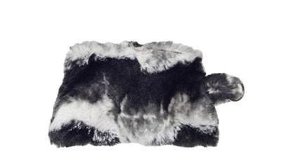 Coin Purse & Cosmetic Bag - Luxury Faux Fur in Ocean Mist