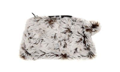 Coin Purse & Cosmetic Bag - Luxury Faux Fur in Sienna Stratus