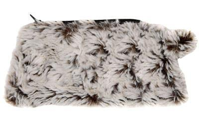 Coin Purse & Cosmetic Bag - Luxury Faux Fur in Stratus Coin / Sienna Stratus Handbag Pandemonium Millinery
