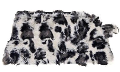 Coin Purse & Cosmetic Bag - Luxury Faux Fur in White Jaguar (Limited Availability)