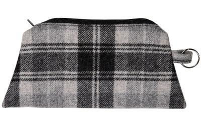 Coin Purse & Cosmetic Bag - Wool Plaid Cosmetic / Nightfall Handbag Pandemonium Millinery