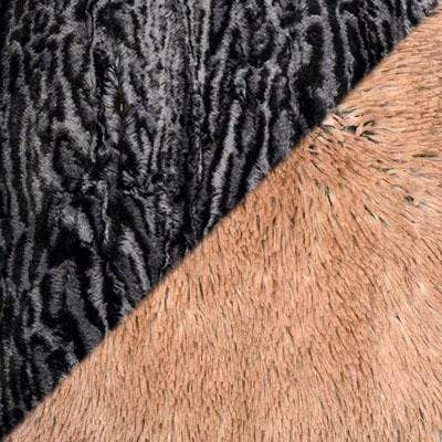 Cuffed Pillbox, Reversible (Solid or Two-Tone) - Luxury Faux Fur in Siberian Lynx