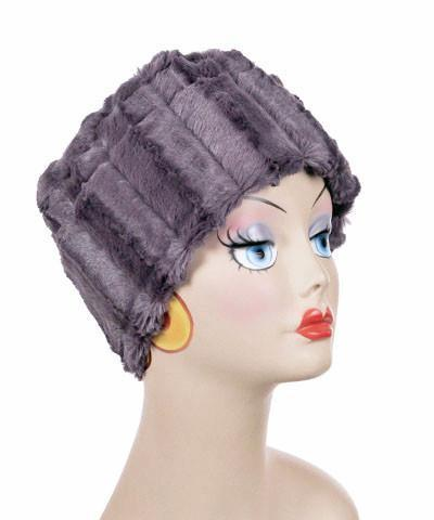 Cuffed Pillbox, Reversible (Solid or Two-Tone) - Minky Faux Fur (MAUVE - LIMITED AVAILABILITY!)