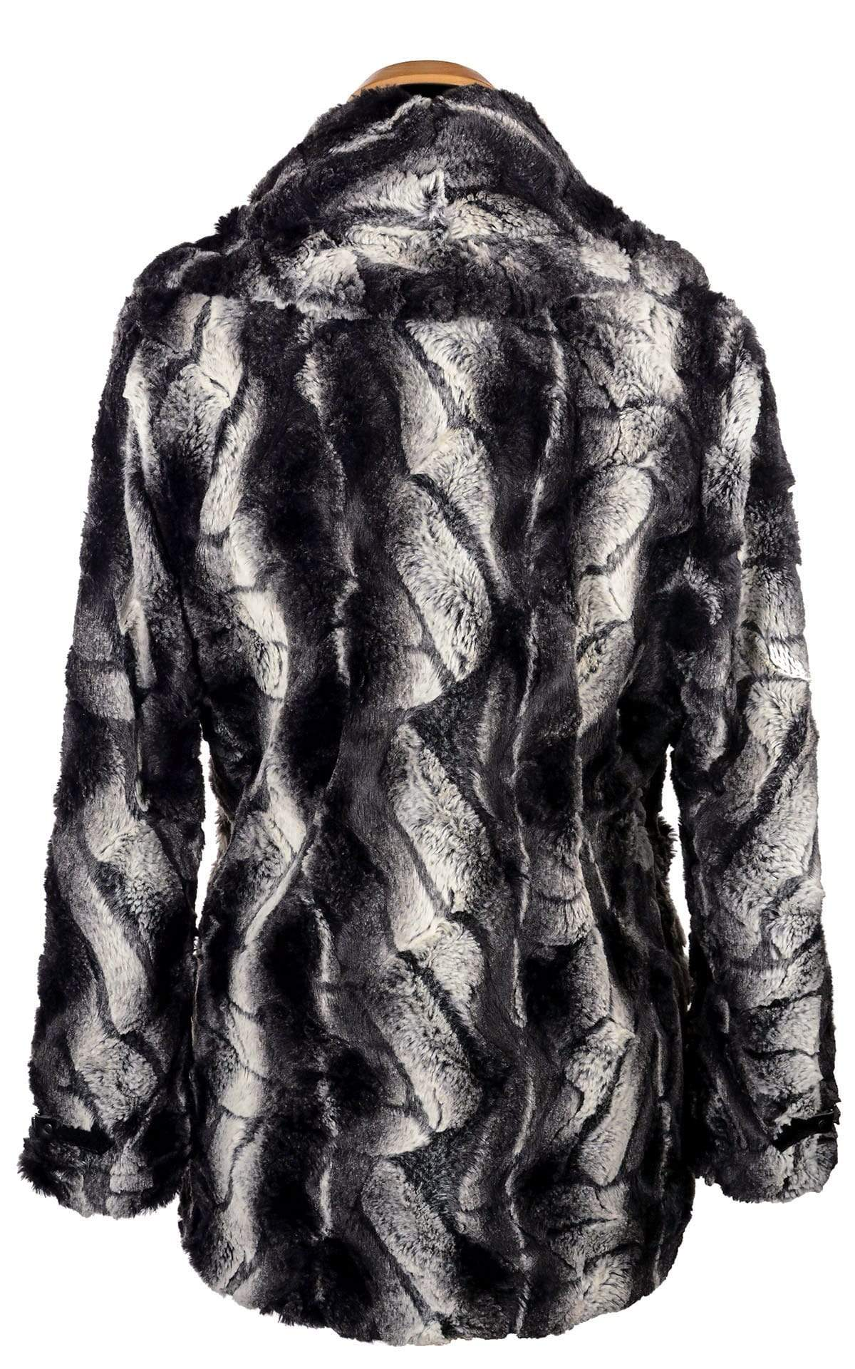 Dietrich Coat - Luxury Faux Fur in Honey Badger