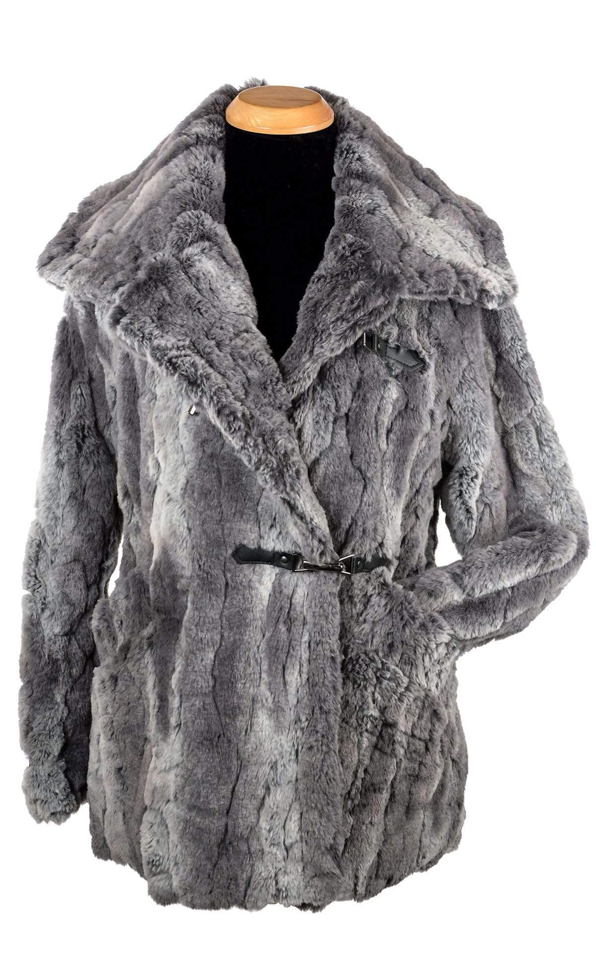 Dietrich Coat - Luxury Faux Fur in Stormy Night
