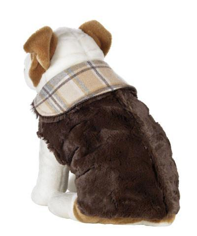 Dog Coat, Reversible - Wool Plaid with Cuddly Faux Fur (One XL Nightfall Left!)