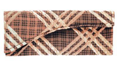 Envelope Clutch - Copper Plaid Upholstery
